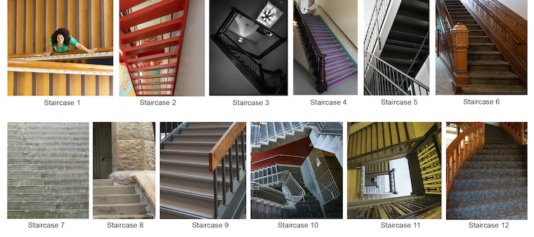 Photo gallery of staircases