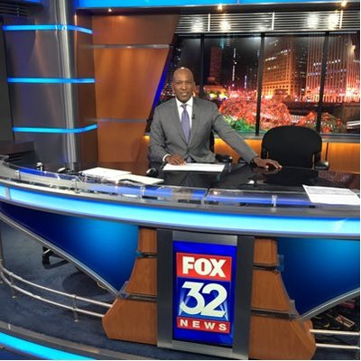 Photo of George Smith at the Fox 32 desk