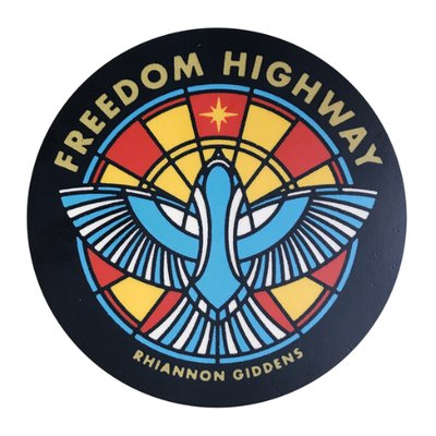 Cover image for Rhiannon Giddens 2017 solo album, Freedom Highway