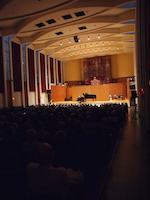 photo of warner concert hall