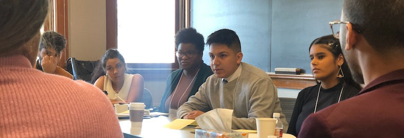 Eder Aguilar '20 presents at the MMUF Midwest Regional Conference at Carlton College in November of 2019.