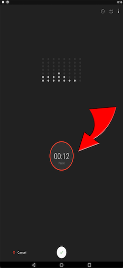 screenshot of face of Android phone.