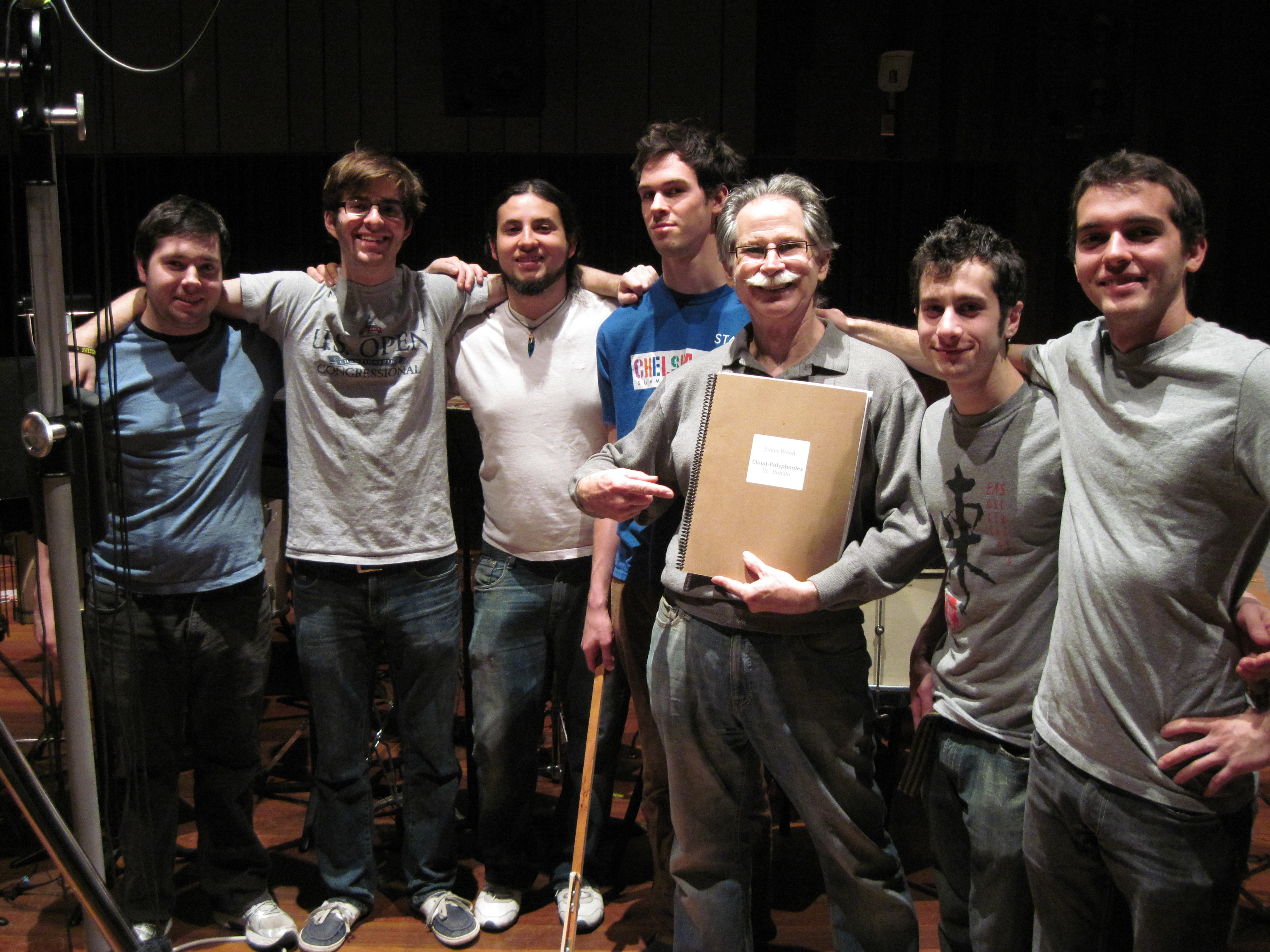 percussion teacher with students