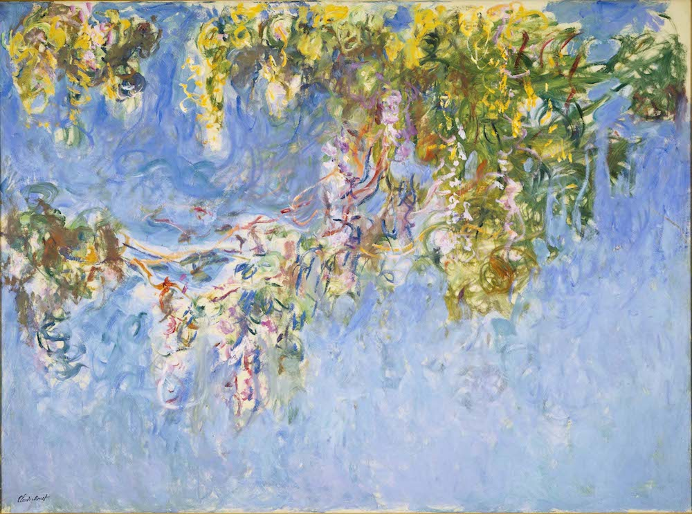 Monet's painting Wisteria