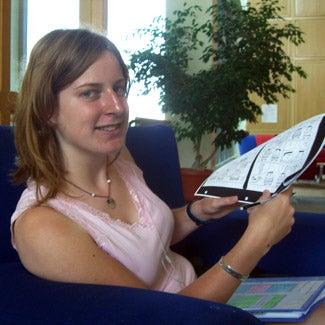 Sarah prepares a lesson plan.
