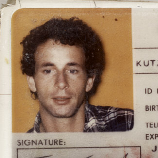 Thomas's ID photo from the 1970s.