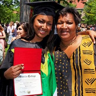 Yolanda at graduation.