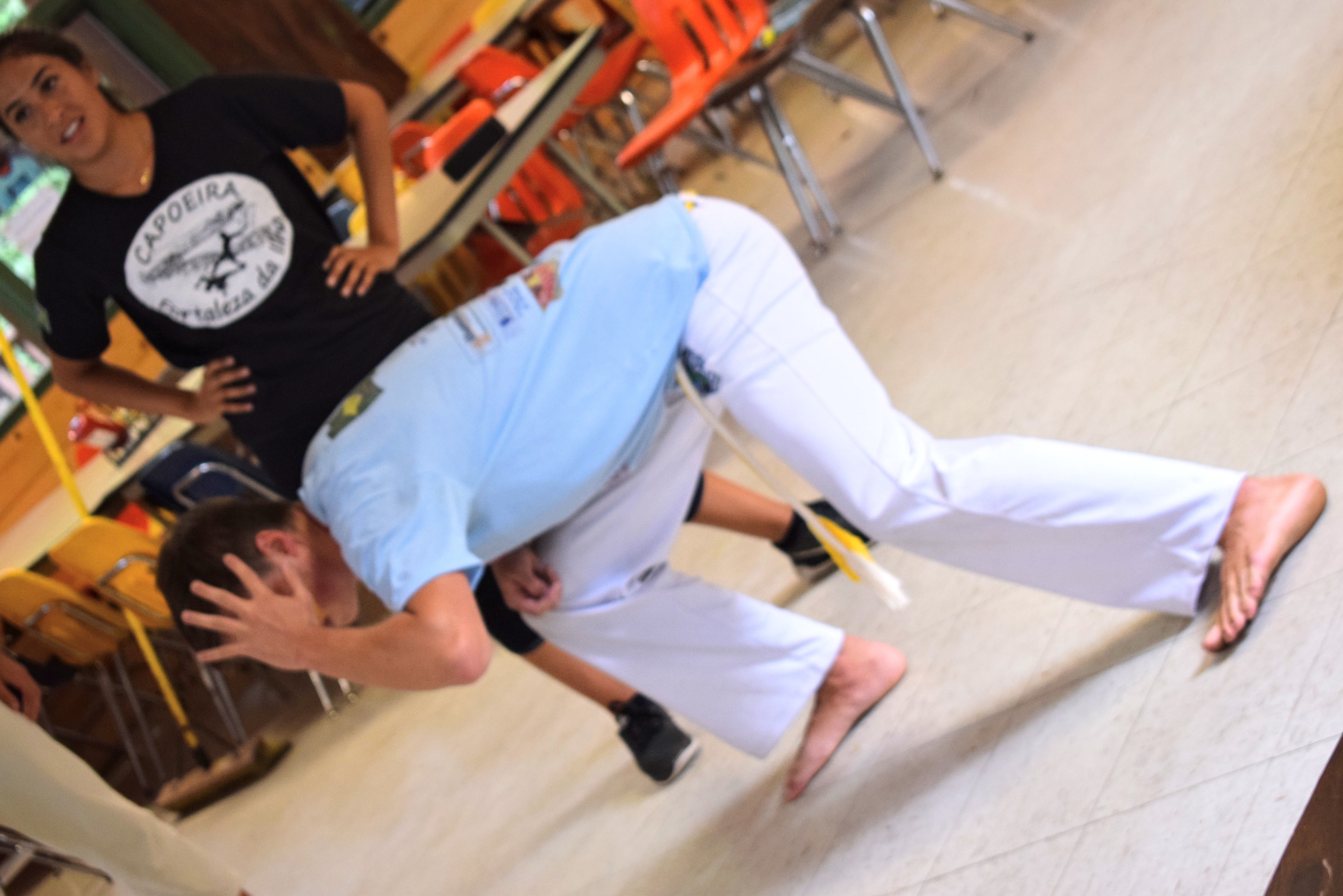 my friends teaching Capoeira to our cohort