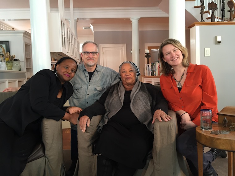 Group image of Toni Morrison, Edwidge Danticat, and Oberlin faculty