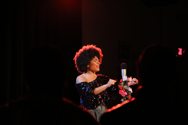 Madison McFerrin on stage