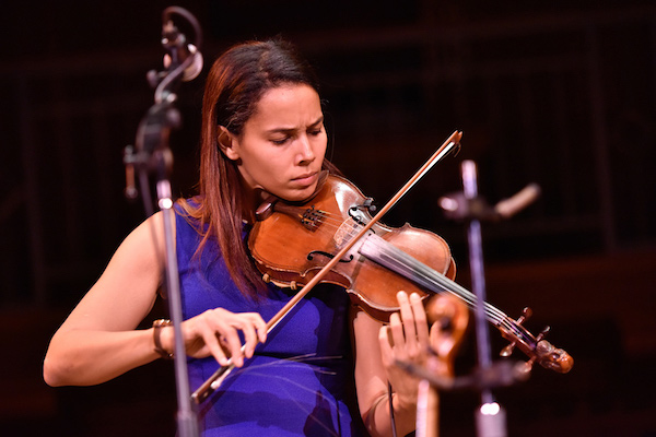 Rhiannon Giddens playing violin