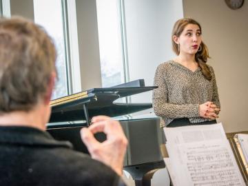 A singer receives a critique