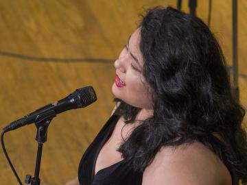 Photo of jazz singer Adriana Vergara