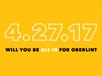 4-27-17 Will you be All In for Oberlin?