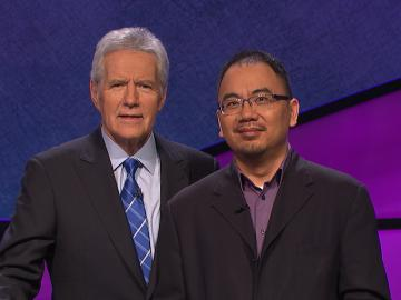 Andrew Pau with Alex Trebek