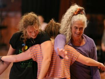 Ann Cooper Albright dancing with students