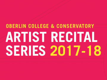 """poster with the text """"Artist Recital Series 2017-18"""""""