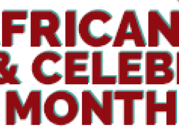 "clip art with the text ""Africana Unity & Celebration Month"""
