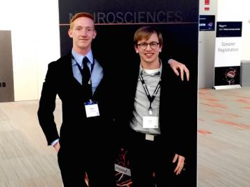 Bradley Hamilton and Daniel Dudley 12' at the Medical Innovation Summit