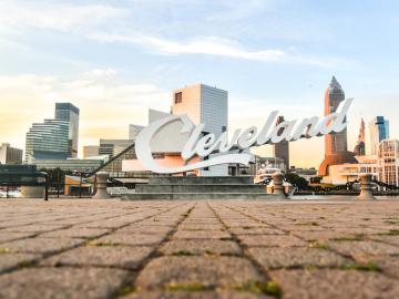 Image of Cleveland script sign