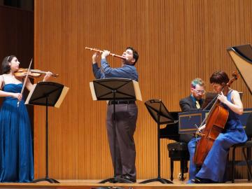 Conservatory student Alana Youssefian, Joseph Monticello, Justin Murphy-Mancini, and Juliana Soltis performing