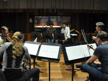 Student composers worked with members of the Formalist Quartet