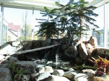 Fountain pond at the Adam Joseph Lewis Center