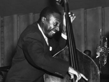 Milt Hinton performing the bass