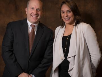 President Marvin Krislov and U.S. Poet Laureate Natasha Trethewey