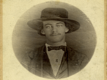 sepia toned photo of Lewis Sheridan Leary.
