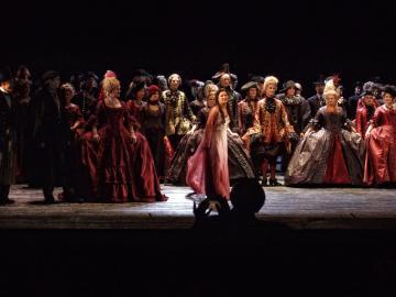 opera scene on stage