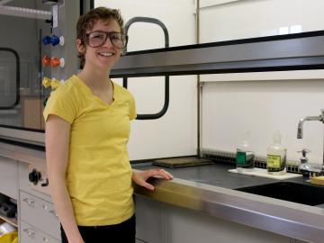 Molly Martorella in the lab