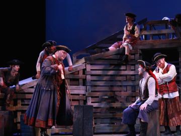 A scene from Treasure Island