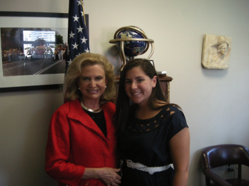 United States Representative Carolyn Maloney with Ilyssa Meyer '13