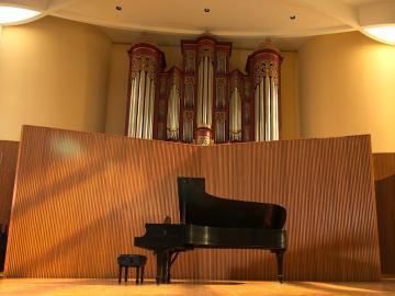 Piano in Warner Concert Hall