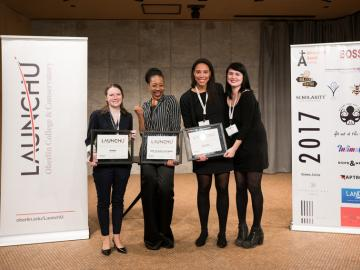 This years four LaunchU pitch competition winners