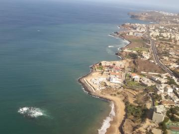 aerial view of the west cost of Senegal