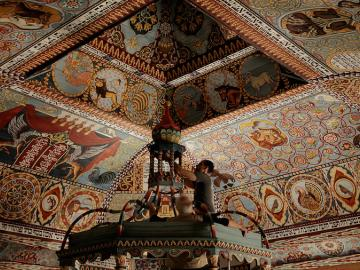 a decorated ceiling