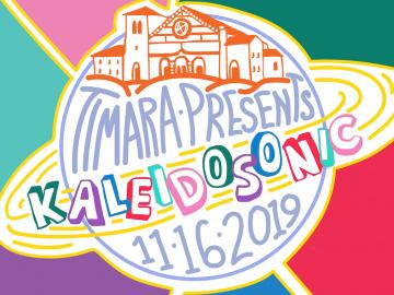 Illustration promoting Oberlin's TIMARA Department presents the Kaleidosonic Music Festival on November 16, 2019.