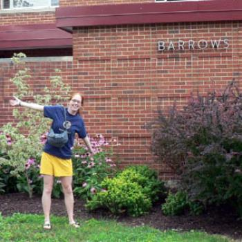 Anna shows off the garden next to Barrows
