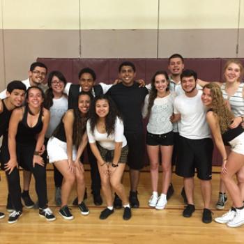 Group of dancers in a dance studio
