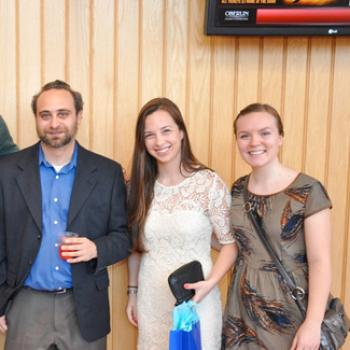 Lauren with Prof. Belitsky and another student
