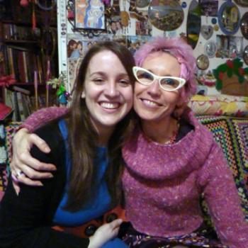 Megan and a friend.