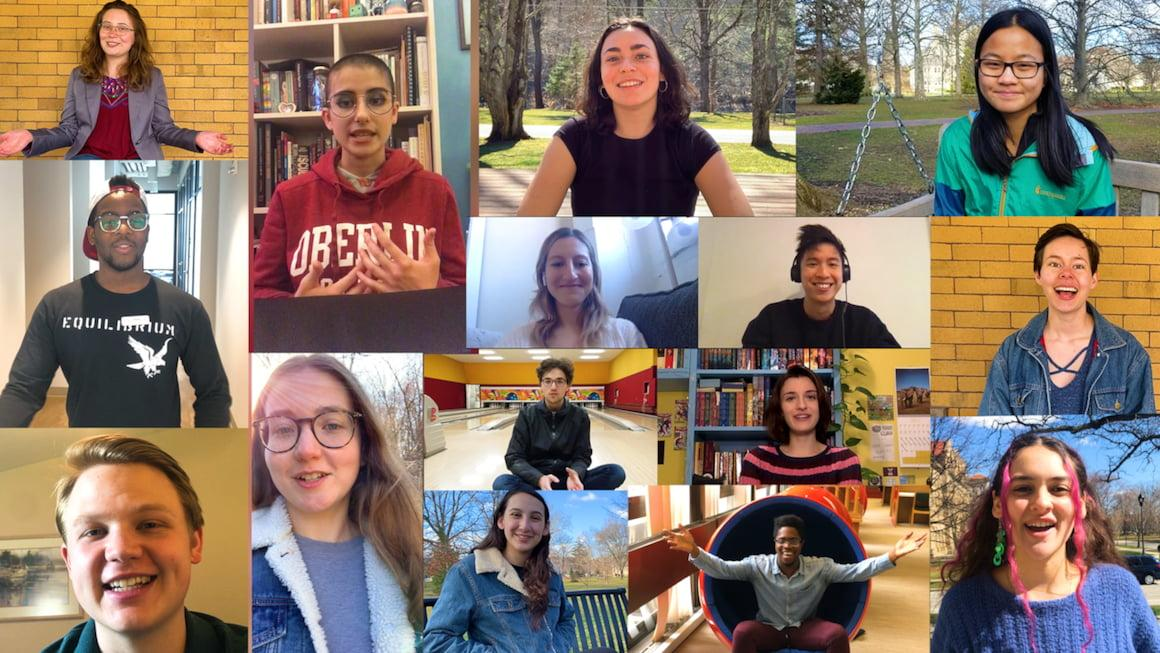 Collage of Oberlin College students.