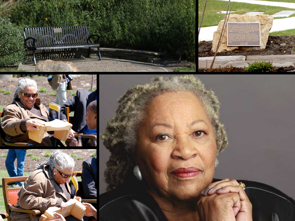 collection of photos featuring toni morrison.