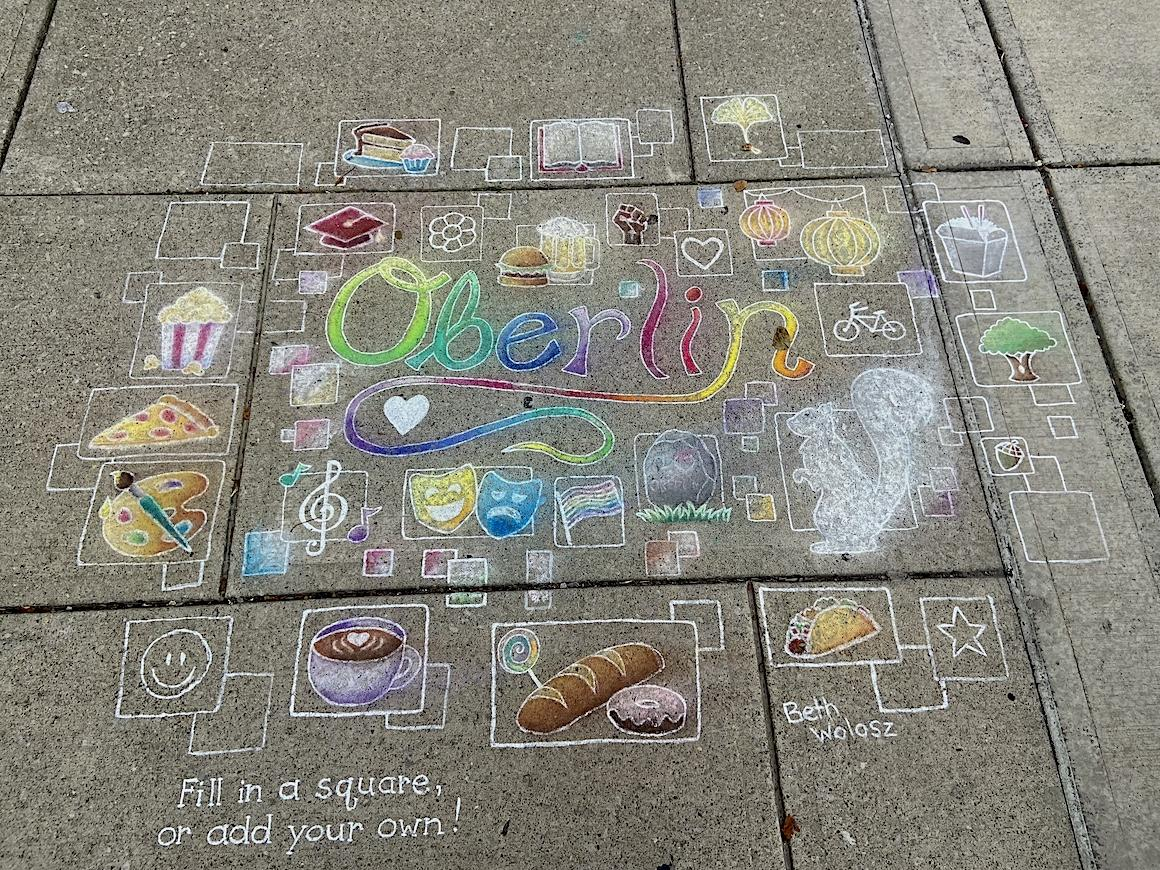 chalk drawing of oberlin.