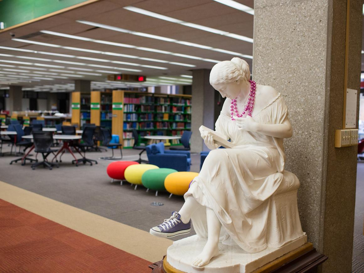 image of Reading Girl in main library