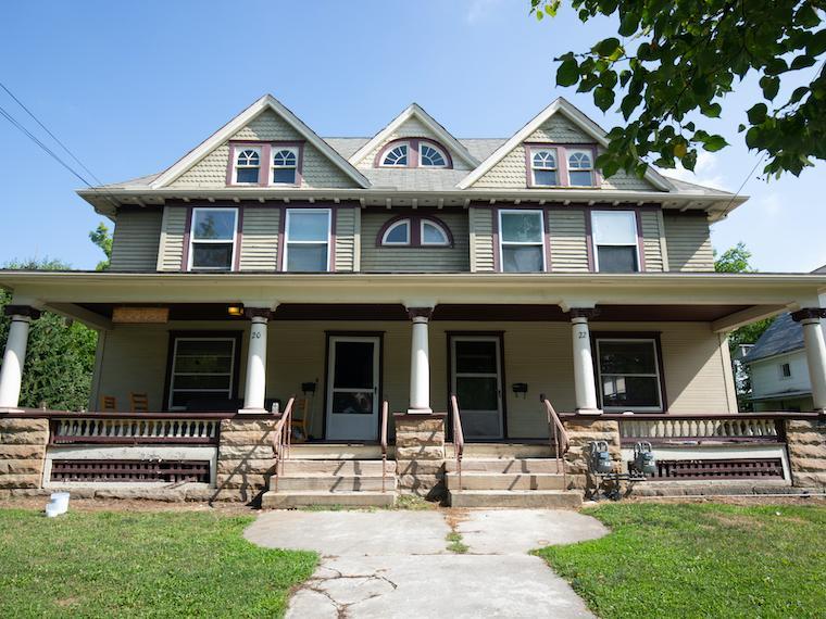 view of the front of the E.A.R.R.T.H House