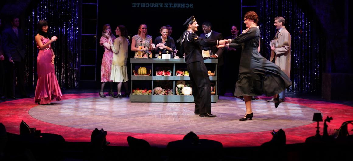 Actors on the new Wurtzel Theater stage perform Cabaret.
