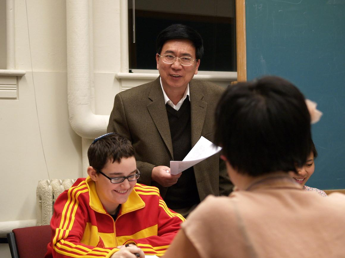 Photo of Professor Li and his students